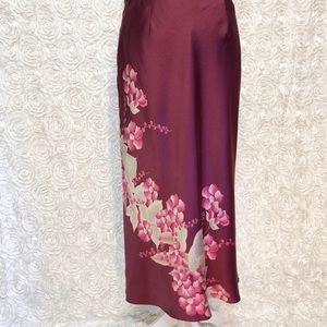 Banana Republic Silk Floral Skirt